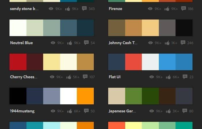 Extraordinary Popular Color Schemes Learning