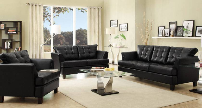 Fabulous Black Couch Living Room Designs Leather