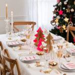 Fairy Dining Christmas Decor Pink Gold
