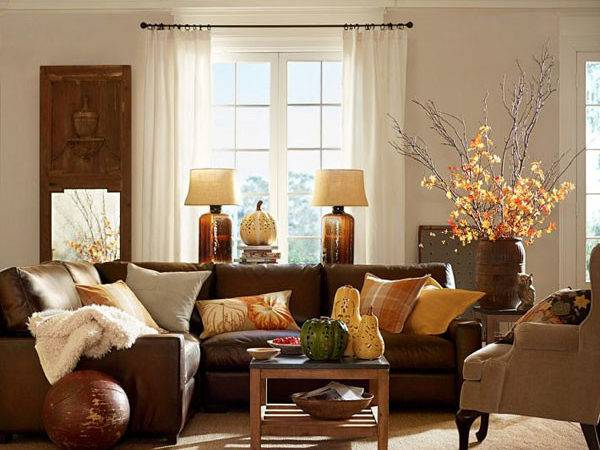 Fall Colors Decor Red Orange Gold Brown
