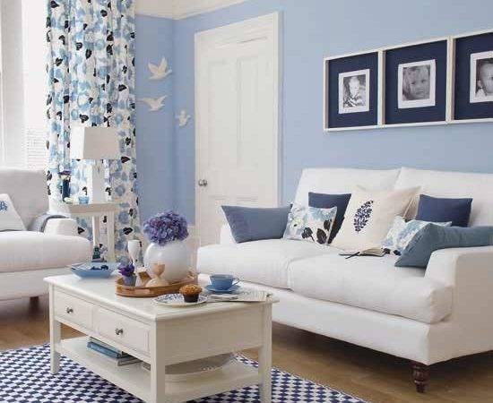 Falls Design Loving Pale Blue Living Rooms