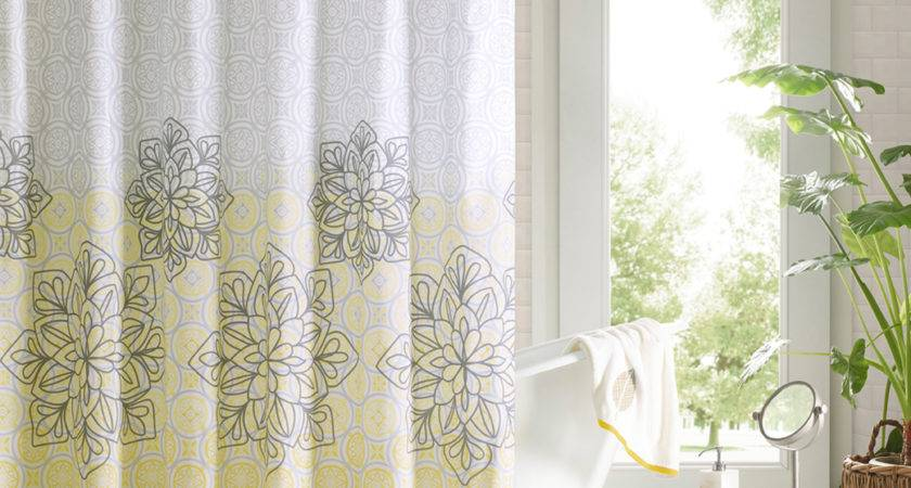 Fancy Shower Curtains Valance Tropical Bathroom