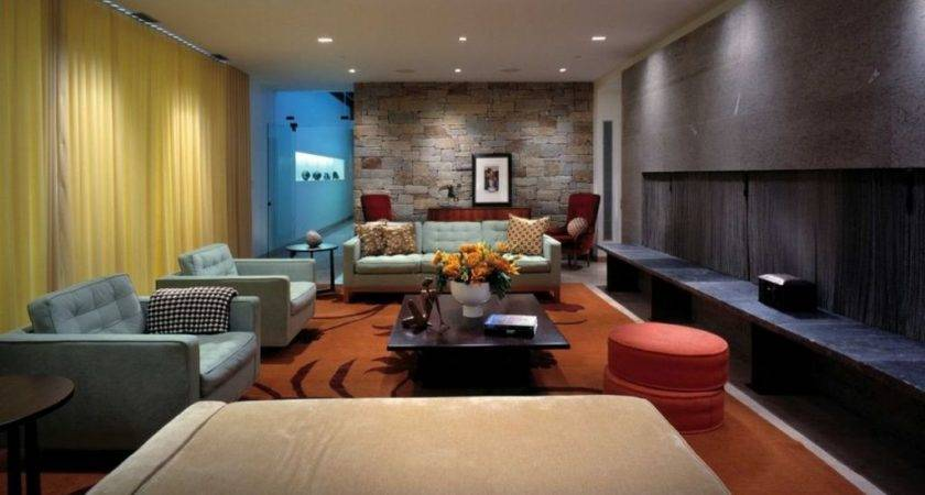 Fantastic Stone House Renovation Modest Living Room