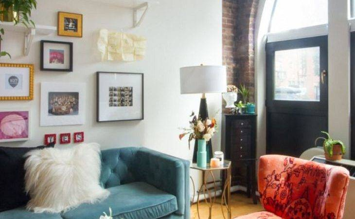 Fascinating Boho Living Room Simple Themed Curtains Brick