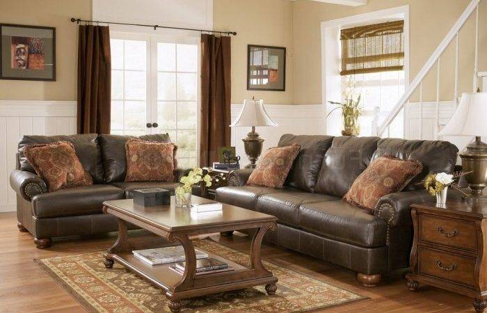 Fascinating Brown Leather Living Room Set Ideas Chocolate