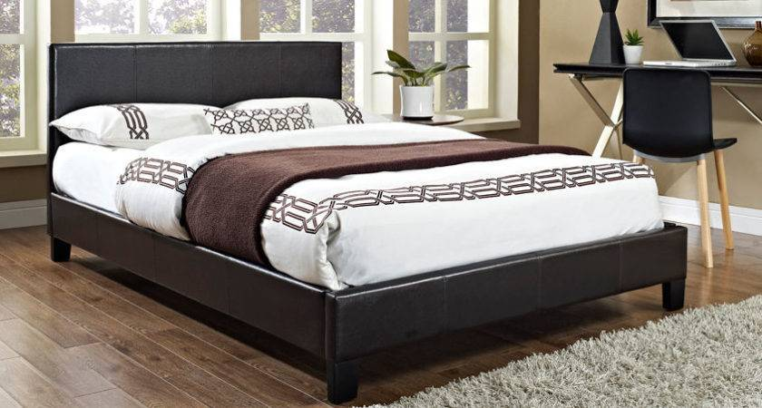 Faux Leather Double Bed Frame Single King