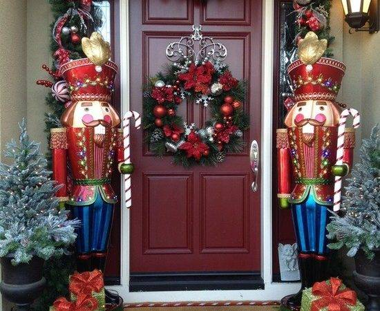 Festive Christmas Front Door Decorating Ideas Style