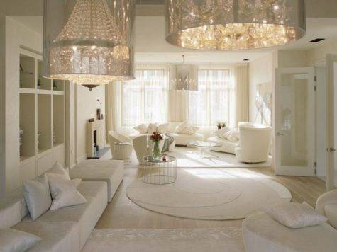 Finest Design Ultra Luxury Living Room White Interior
