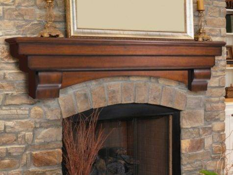 Fireplaces Elegant Stone Fireplace Wooden Modern Floating