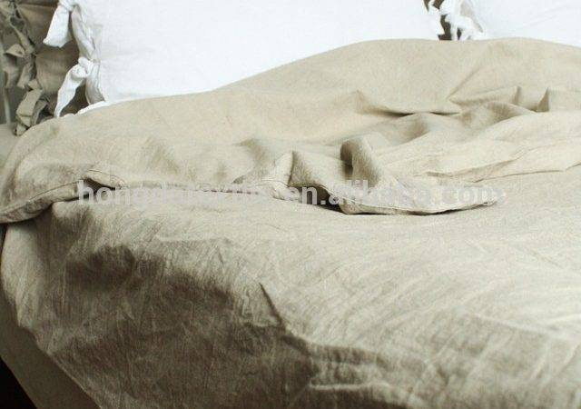 Flax Bed Linen Sheets Vintage Washed