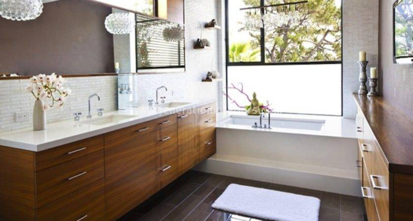 Floating Bathroom Vanity Modern French Country