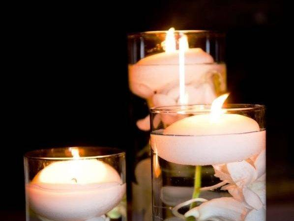 Floating Candles Centerpieces Flowers Wedding