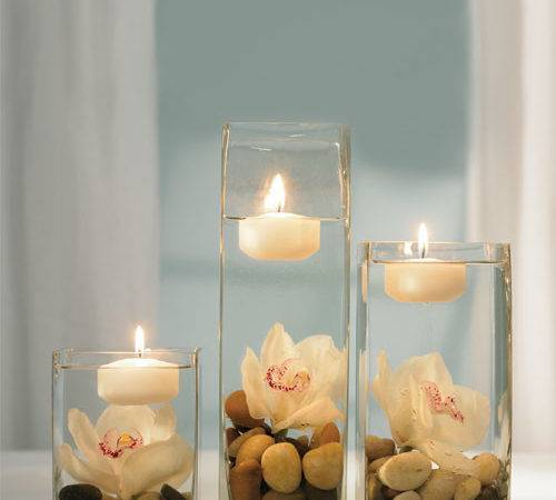 Floating Candles Wedding Table Reception Centerpiece