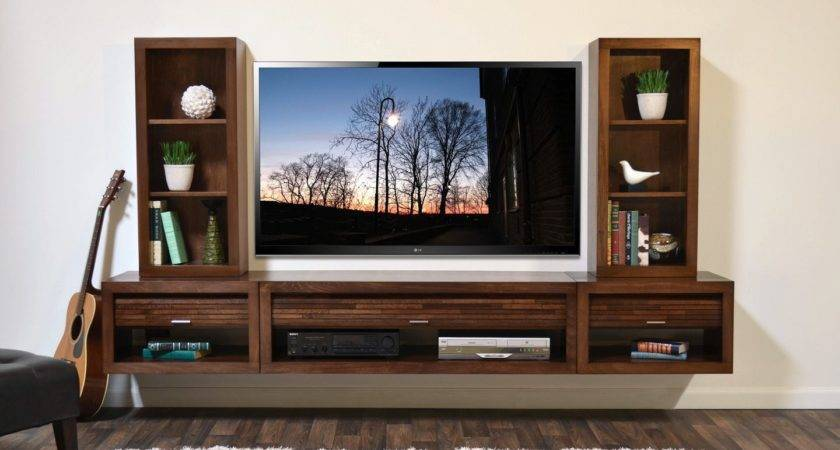 Floating Entertainment Center Wall Mount Stand Eco