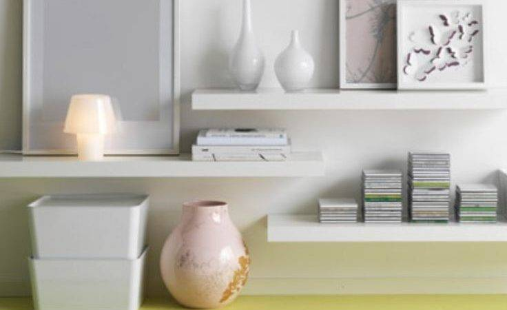 Floating White Shelves Ikea Under Wall Mounted