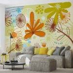 Floral Pattern Wall Paper Mural Buy Europosters