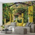 Flowers Floral Garden Wall Paper Mural Buy Europosters