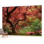 Flowers Flower Floral Landscape Wall Mural