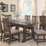 Formal Double Pedestal Dining Set Table Chair Rustic