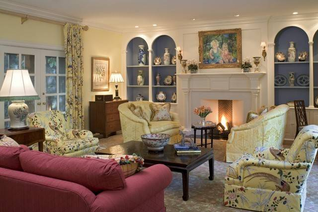 Formal Living Room Fireplace Traditional