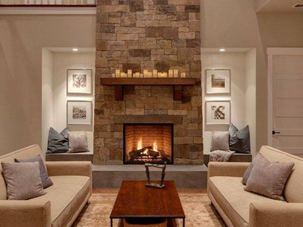 Forty Stone Fireplace Designs Classic Contemporary