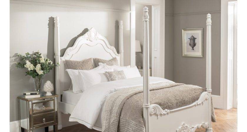 Four Poster Antique French Style Bed Furniture