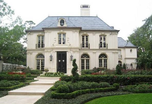 French Chateau Home Exterior Robert Dame Designs