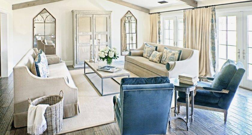 French Country Decor Living Room Shabby Chic Blue