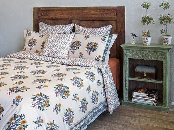 French Country Duvet Cover Yellow Floral Saffron Marigold