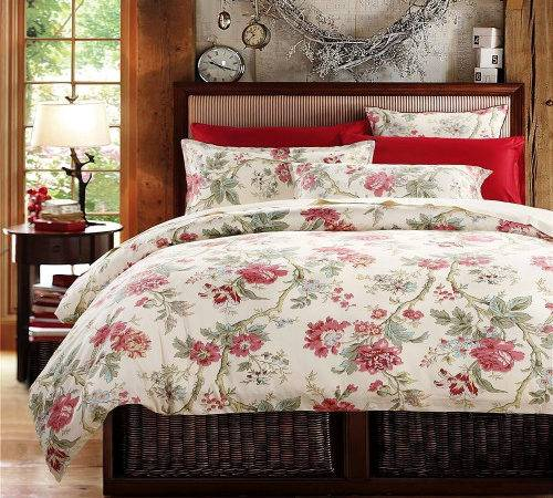 French Country Floral Printed Cotton Bedding Set Blossom