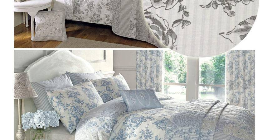 French Country Toile Duvet Cover Florals Reversible