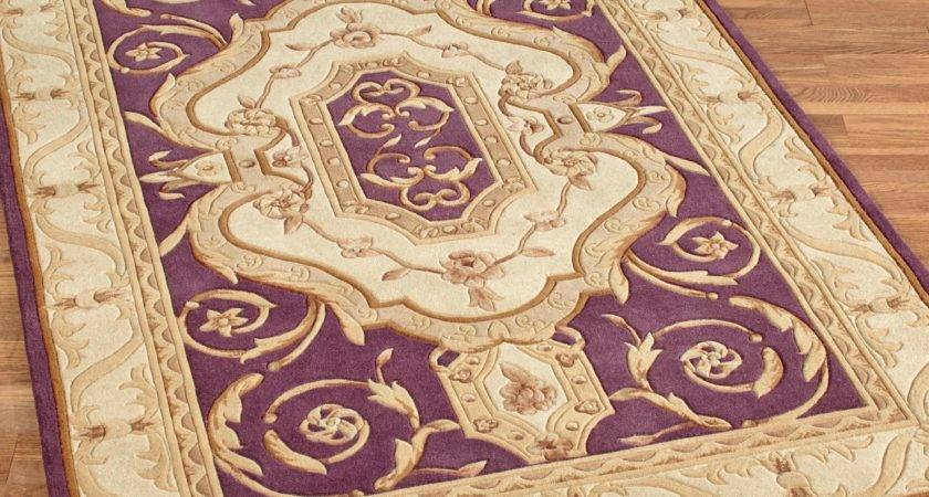 French Legacy Plum Area Rugs