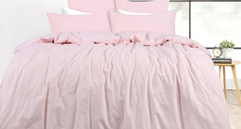 French Provincial Pink Linen King Bed Doona Duvet Quilt