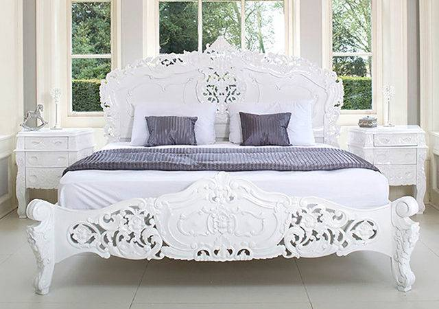 French Rococo Bed Shabby Chic Style Bedroom Other