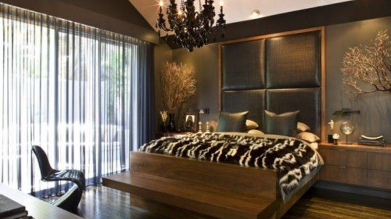 Fresh Brown Bedroom Design House Interior Remodeling