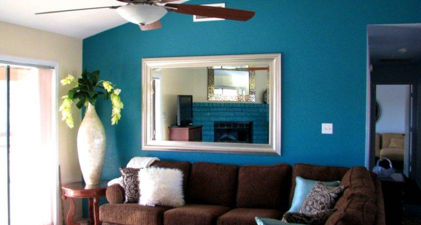 Fresh Teal Brown Living Room Decorating Ideas