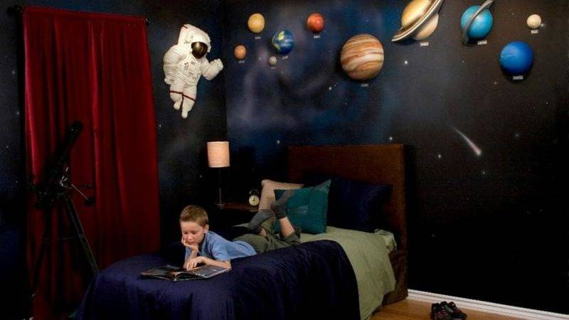 Fun Space Themed Bedrooms Boys Rilane