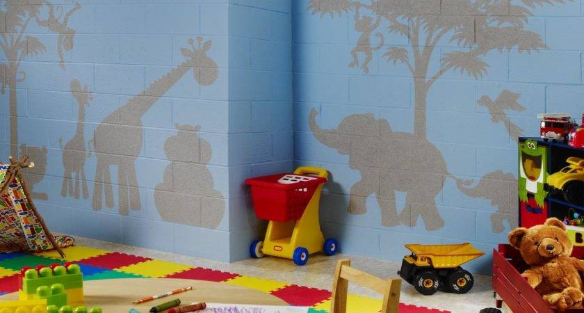 Funny Colorful Accents Kids Play Room Decorated