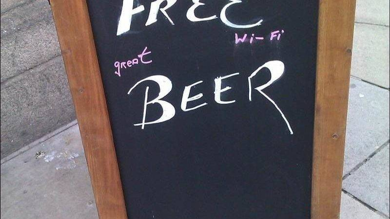 Funny Creative Chalkboard Bar Signs
