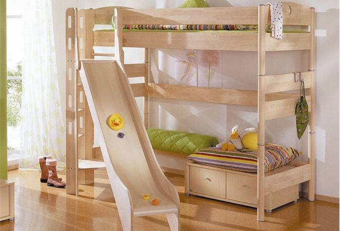 Funy Play Bunk Beds Kids Slide Interior Design Ideas
