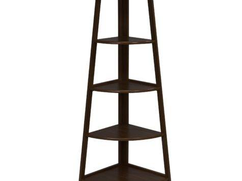 Furinno Tier Corner Ladder Shelf Espresso Black