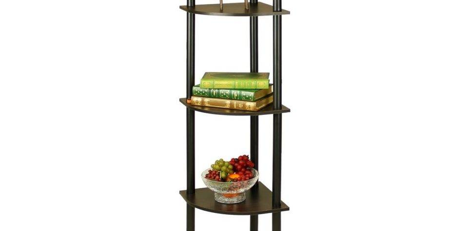 Furinno Tier Corner Rack Bookcase Shelves Shelf Display