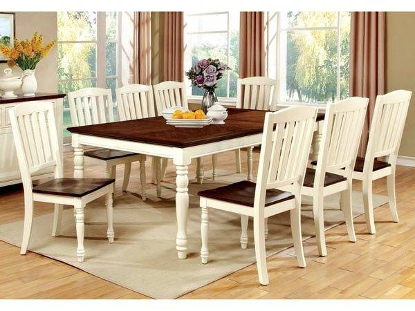 Furniture America Bethannie Cottage Style Tone Dining