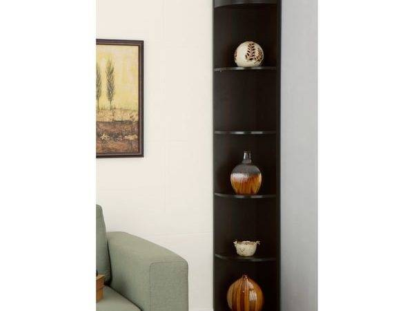 Furniture America Corner Shelf Display Stand