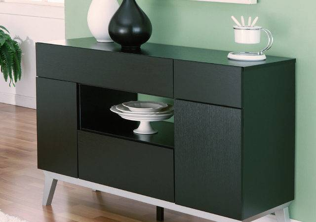 Furniture America Miura Modern Multi Storage Black