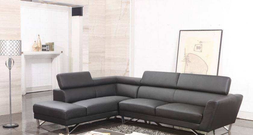 Furniture Black Leather Sectional Couch Your