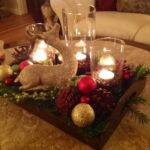 Furniture Coffee Table Christmas Decor Pine Cone