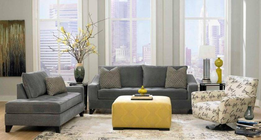 Furniture Gray Living Room Sets Regard