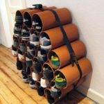 Furniture Impressive Pvc Shoe Rack Diy Ideas Trend