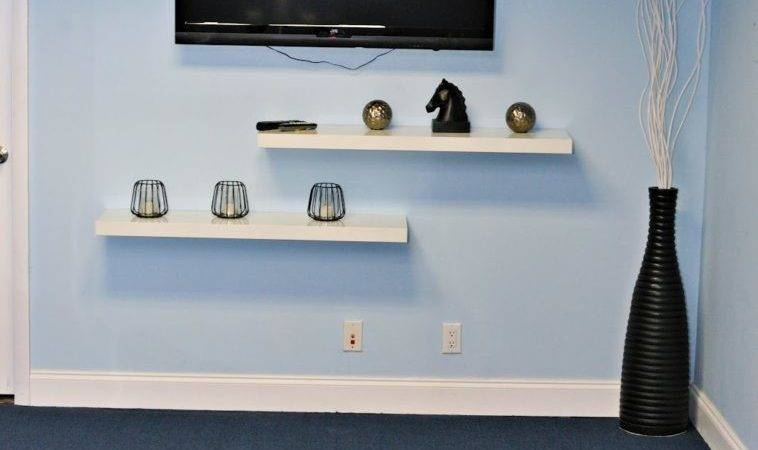 Furniture Wall Mounted Rack Stand Combined Glass